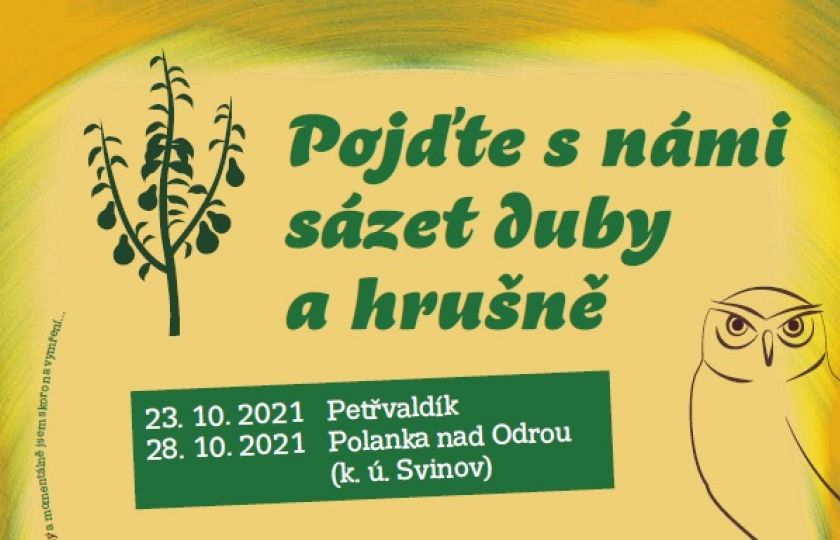 """23. a 28. 10. 2021 – Projekt LIFE Osmoderma zve na akci """"Podzim ve znamení výsadeb stromů, přidejte se k nám!"""""""